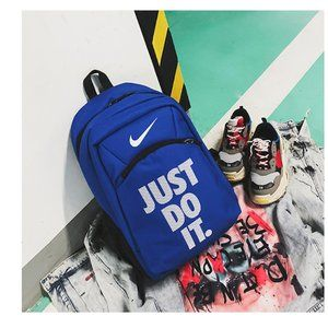 nike black and blue backpack